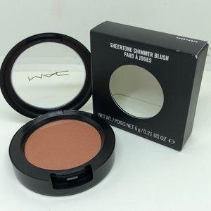 Mac sheerstone shimmer blush sunbasque